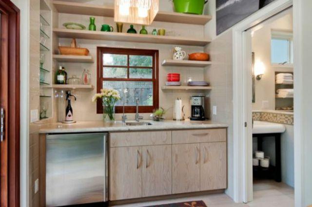 La kitchenette moderne équipée et sur-optimisée House trees, Tree