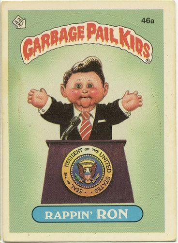 Garbage Pail Kid Rappin Ron Garbage Pail Kids Garbage Pail Kids Cards Pail