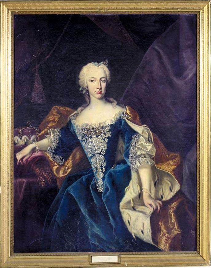German School Circa 1740 Portrait Of A Noblewoman Said To Be Markgravin Christina Sophie Of Brandenburg Kulmbach 1717 1 Old Portraits Baroque Women Portrait