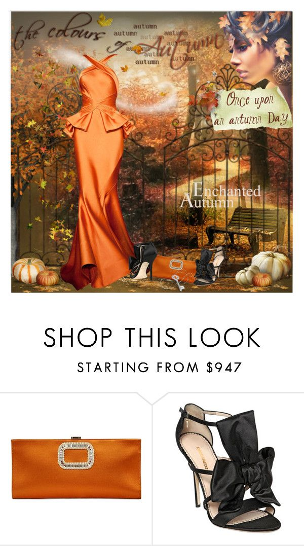"""Once Upon An Autumn Day"" by prettyasapicture ❤ liked on Polyvore featuring Roger Vivier and Dsquared2"