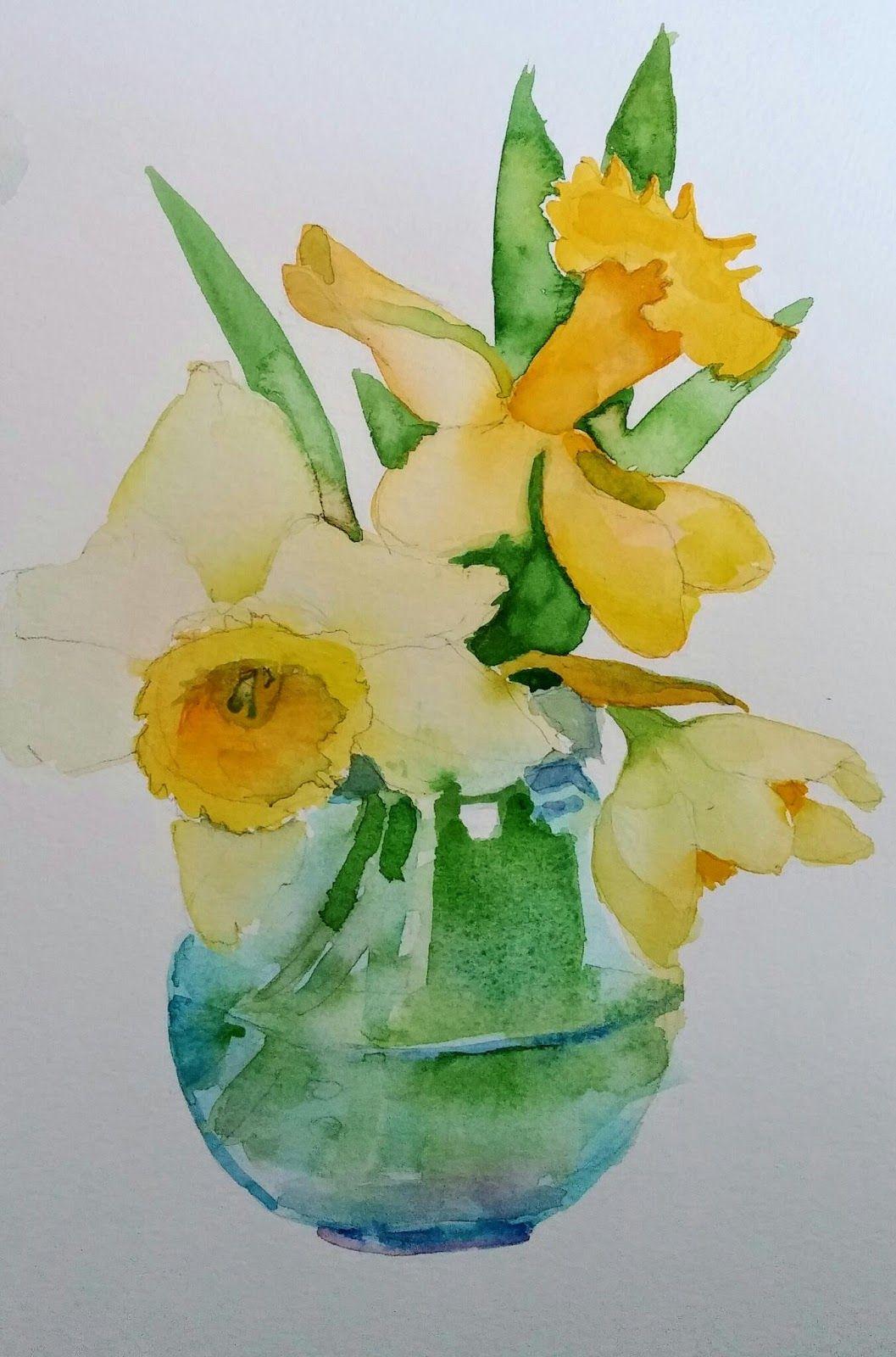 Daffodils En 2020 Aquarelle Fleurs Aquarelle Jonquille