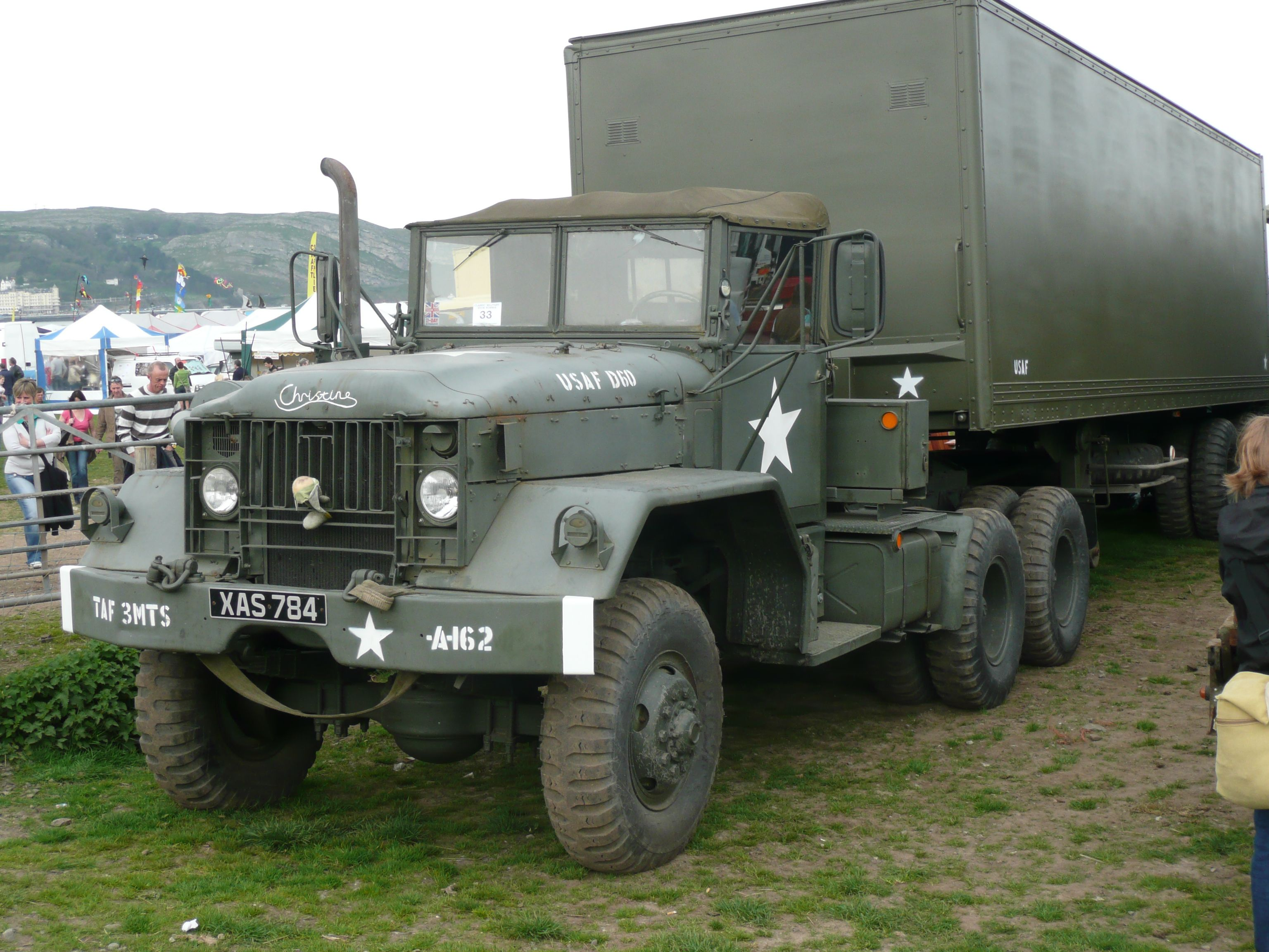 M54 Tractor Pulling A Semi Trailer Cold War Military