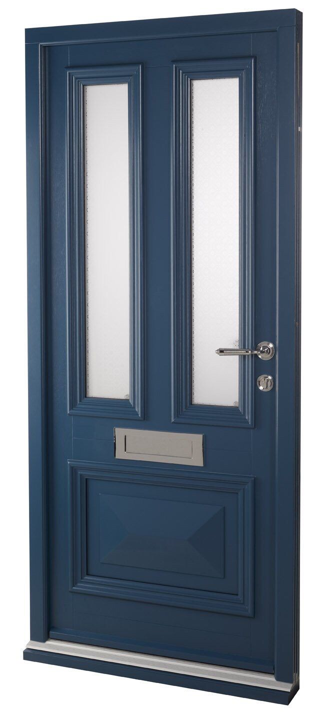 Timber Entrance Door with Envelope bottom panel and bolection mould. Polished Chrome ironmongery from Samuel  sc 1 st  Pinterest & Timber Entrance Door with Envelope bottom panel and bolection ... pezcame.com
