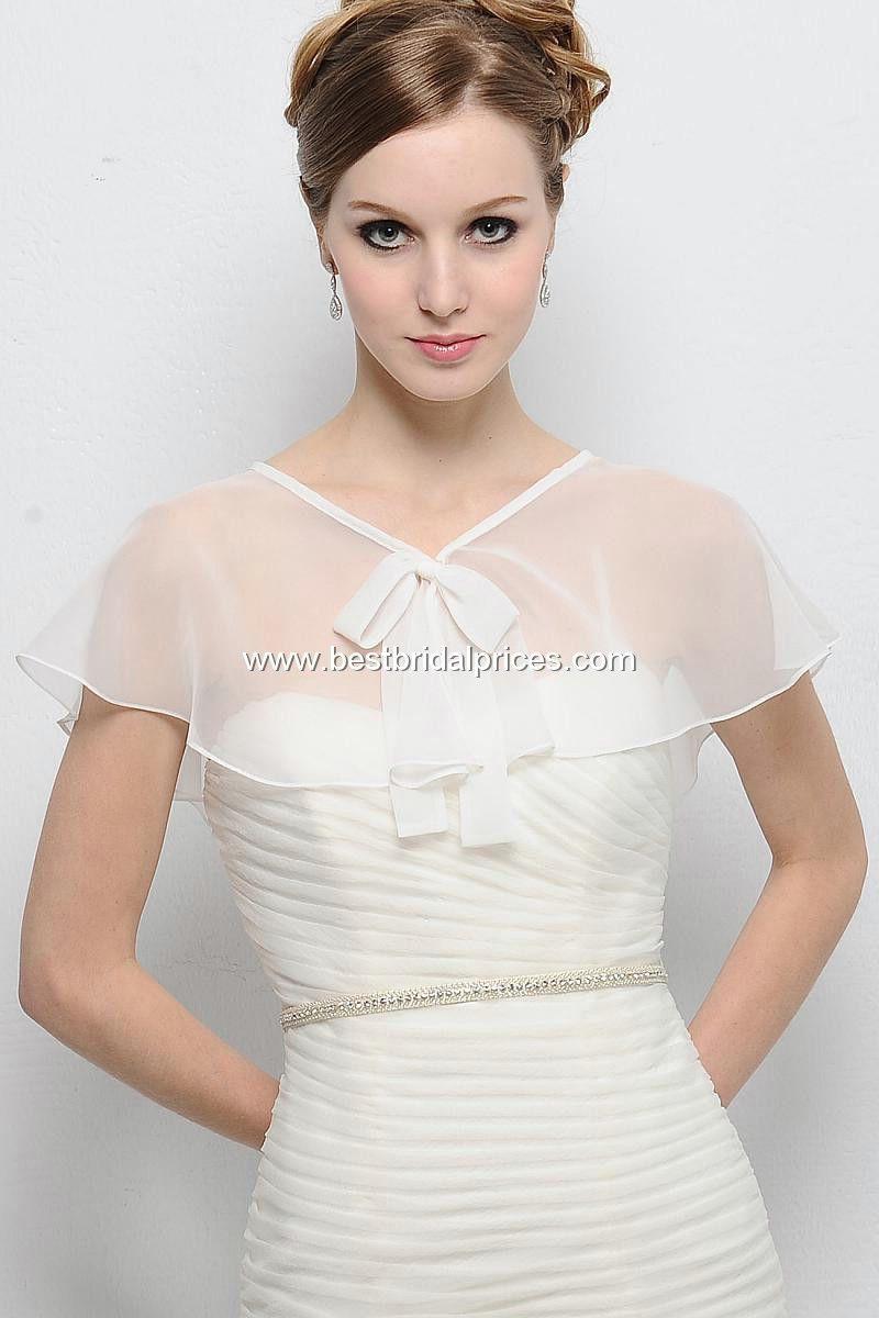 Style Be008 Wedding Jacket Organza Chiffon Bordure Bridal
