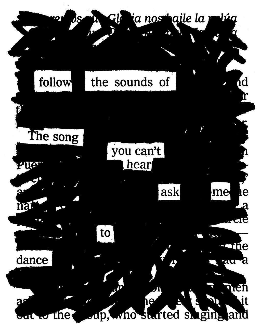 Newspaper Blackout Poems By Austin Kleon Blackout Poems Songs