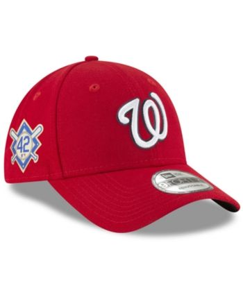 3f8faeeff4717 New Era Washington Nationals Jackie Robinson Collection 9FORTY Cap - Red  Adjustable
