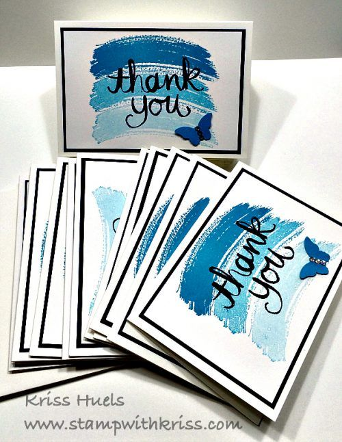 Stampwithkriss Com Blog Archive Note Card Set For A Bridal Shower Note Cards Thank U Cards Handmade Thank You Cards