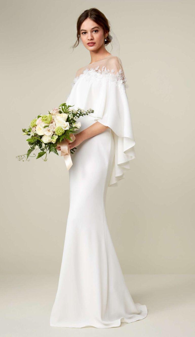 Off the Shoulder Popover Gown TADASHI SHOJI | Wedding dress ...
