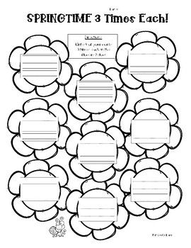 Spring word work activity pack! - 5 word work activities ...