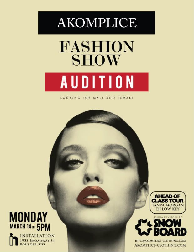 fashion show auditions flyer