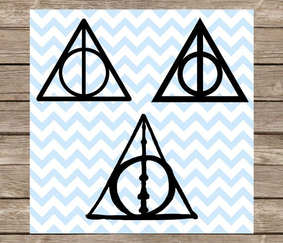 Harry Potter Decal Deathly Hallows Decal Deathly Hallows Glitter Sticker 11