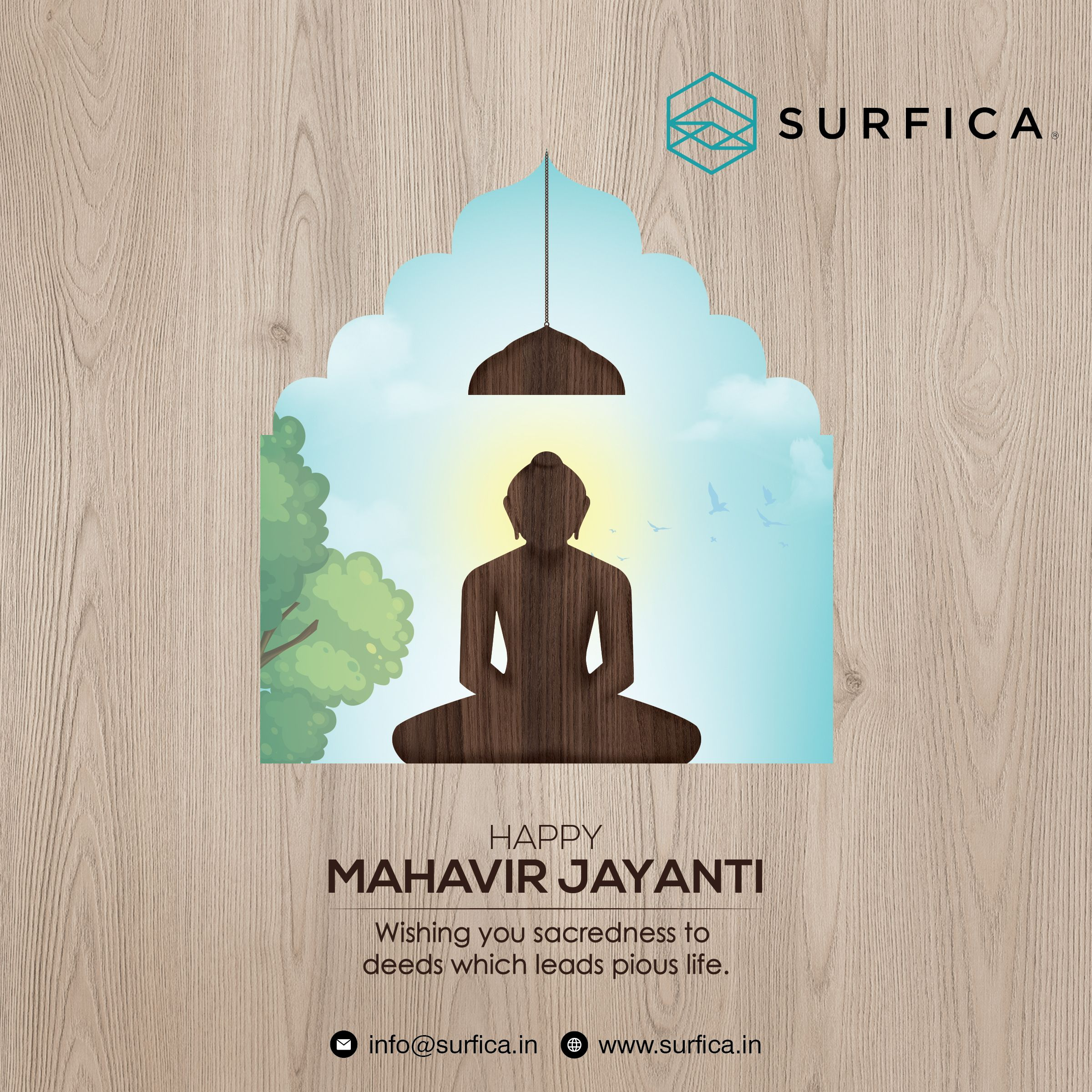 Happy Mahavir Jayanti Wishing you sacreness to deeds which leads pious life. 202 Wishes Images, Photos, Status1