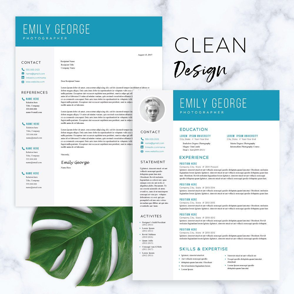 modern resume template for word  lengthy spans attention relevant