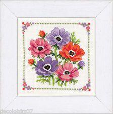 Vervaco Kit Point de Croix compté Anémones-Counted Cross Stitch Kit Flowers