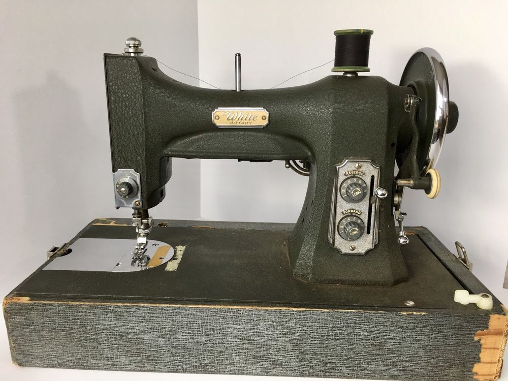 Vintage White Electric Rotary Series 40 Portable Sewing Machine Delectable White Sewing Machine Series 77