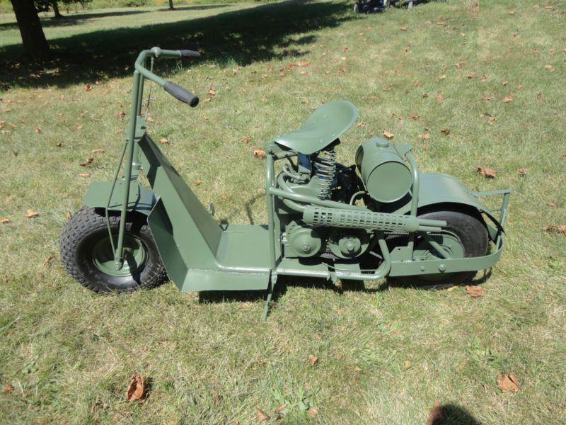 Military Style Scooter Custom Tribute Skeuomorph Cushman Airborne