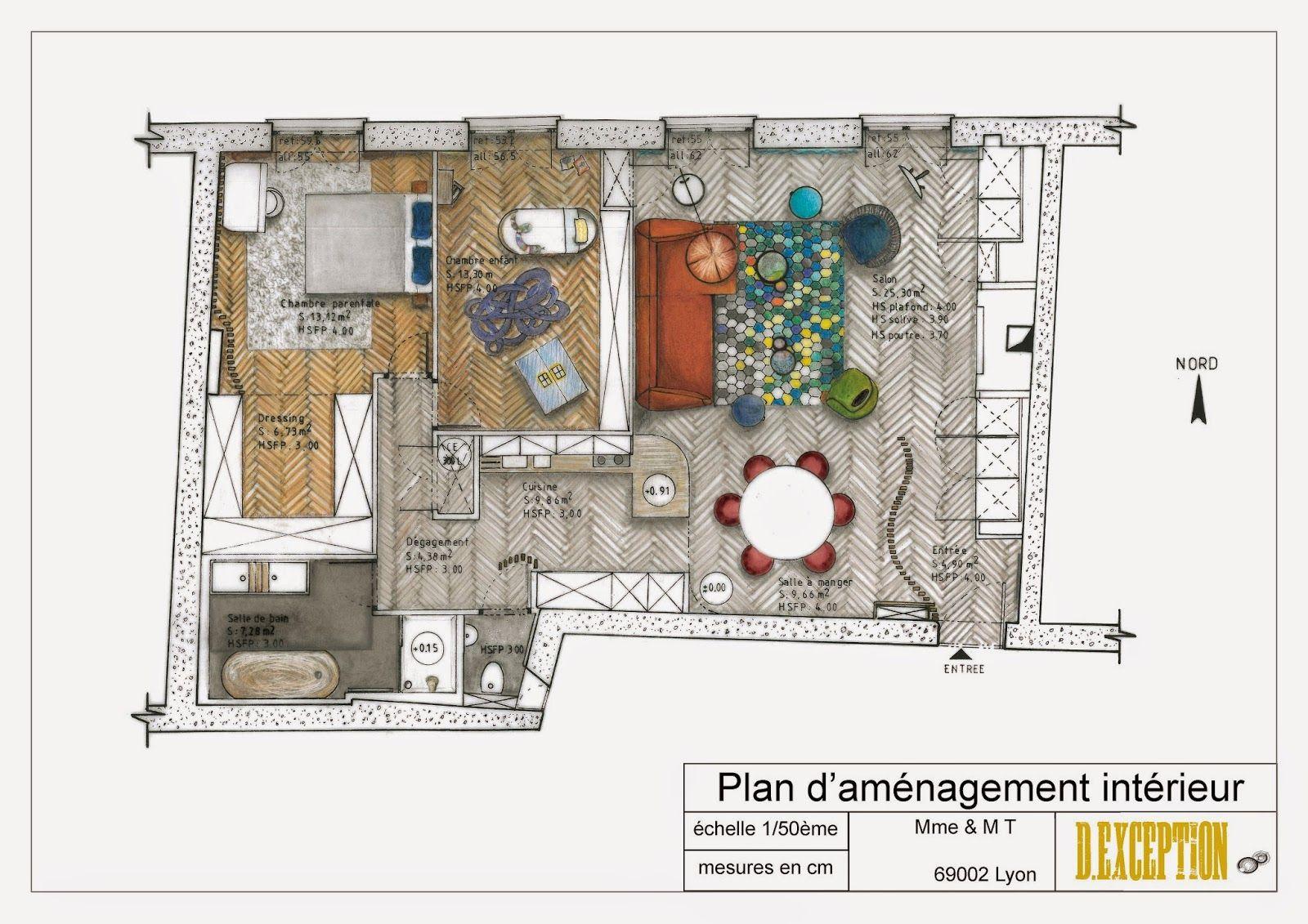 plan d'aménagement appartement