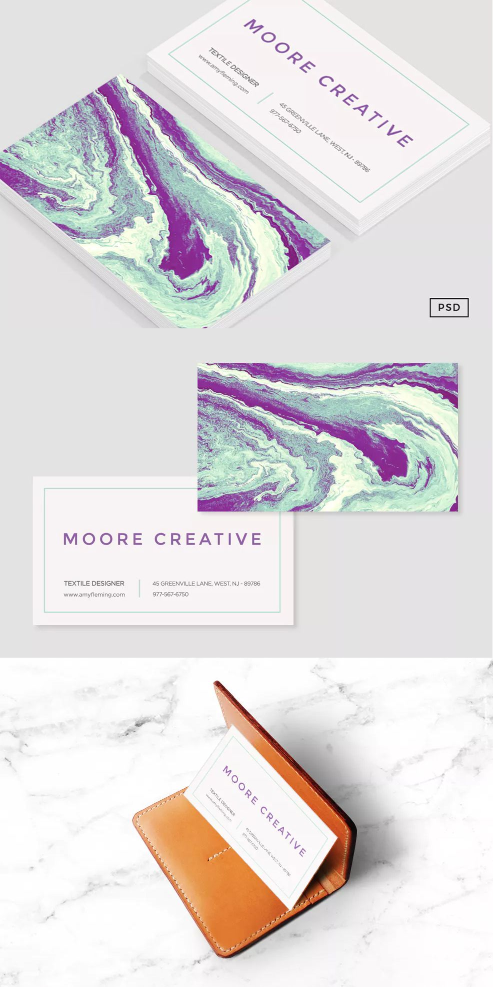 Charming Chaos Business Card Template PSD