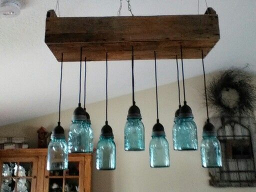The Dining Room Light Fixture We Made From An Antique Tool Box And Mason  Jars. OMG! I Need To Make This!