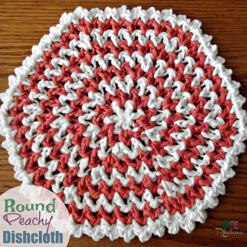 Round Peachy Dishcloth | Crochet - Dishcloths, Dish Towels ...