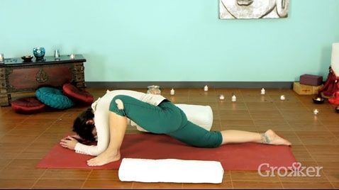 dragon pose use a bolster for support  honor your