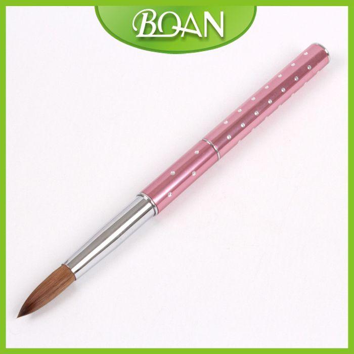 10 Pcs #8 Metal nail brush kolinsky Acrylic brush for Sable Crystal ...