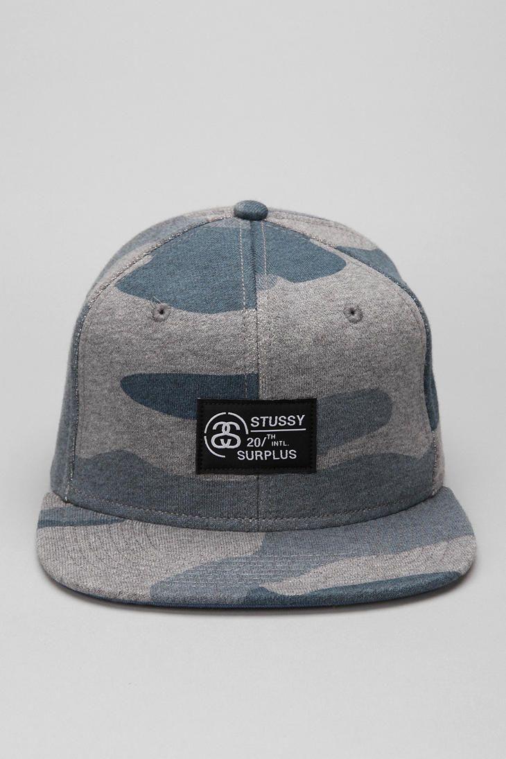 Stussy Fleece Camouflage Snapback Hat  UrbanOutfitters  43c42e0e993