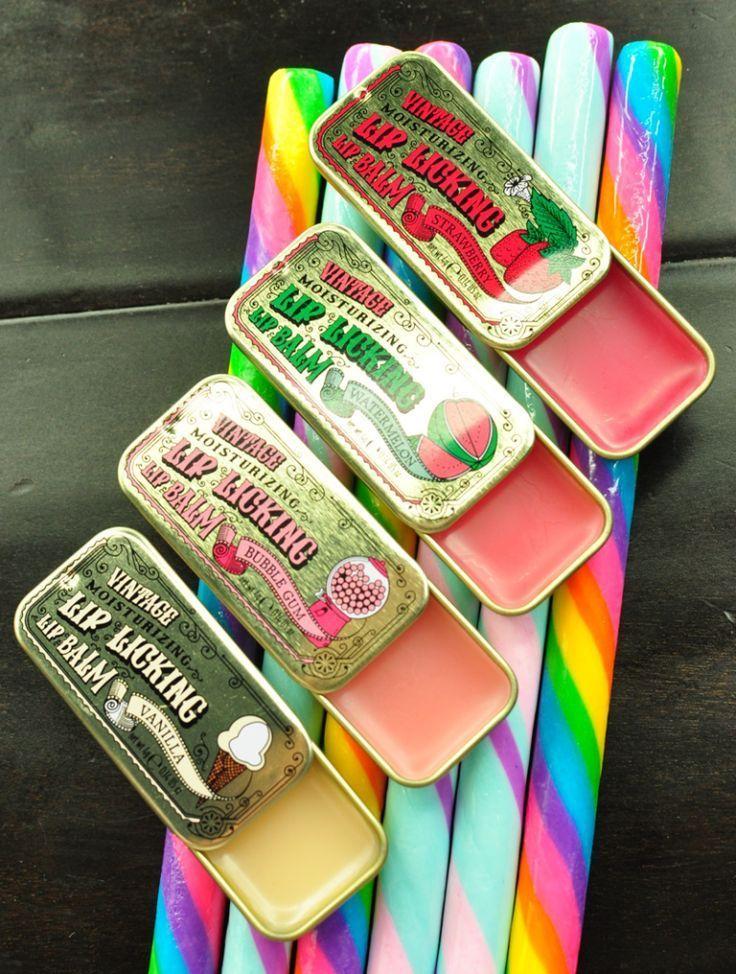 Tinte Cosmetics Vintage Schiebe Lippenbalsam Dosen - Fitness  #cosmetics #dosen #fitness #lippenbals...