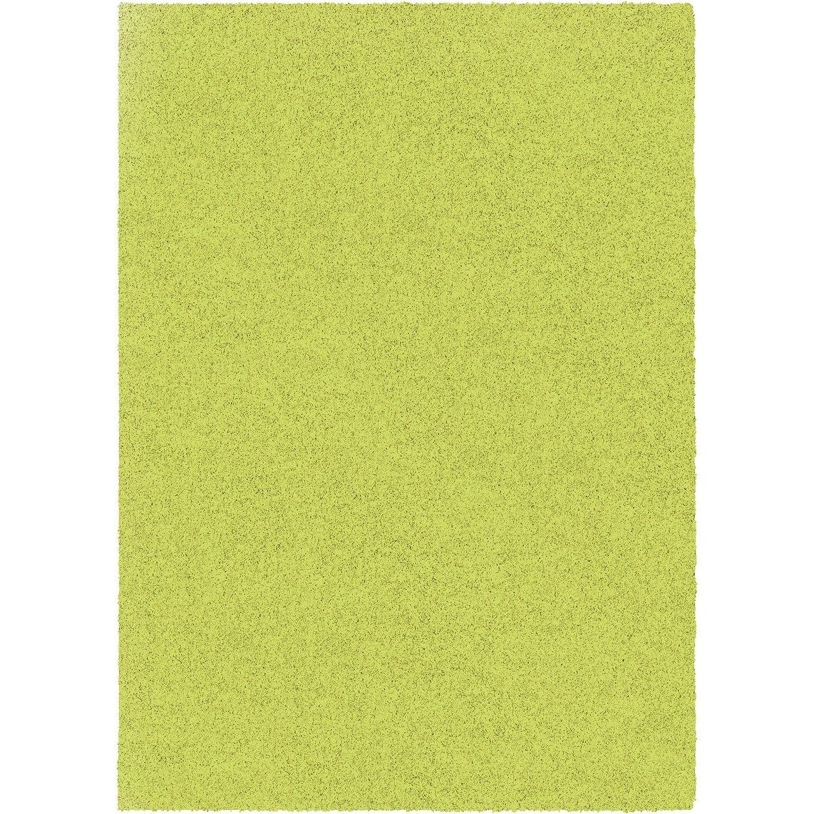 Flossy Lime Green Area Rug 5 3 X 7 6 Area Rugs Rugs Green Bathroom Rugs