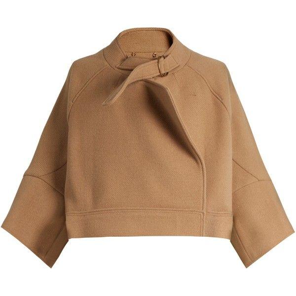 1e40b598a1 Chloé Neck-strap wool-blend jacket featuring polyvore, women's ...