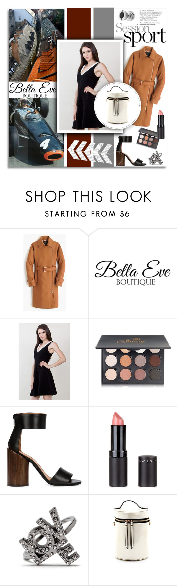"""""""Session Sport...Bella Eve"""" by melissa-de-souza ❤ liked on Polyvore featuring J.Crew, Shany, Givenchy, Yves Saint Laurent and BellaEveBoutique"""