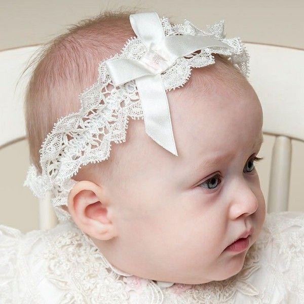 Adorable diadema de encaje blanco belleza pinterest - Diademas de encaje ...