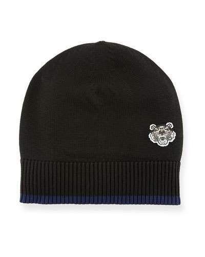 8f6ec7e2a06 Kenzo Men s Tiger Crest Wool Beanie Hat