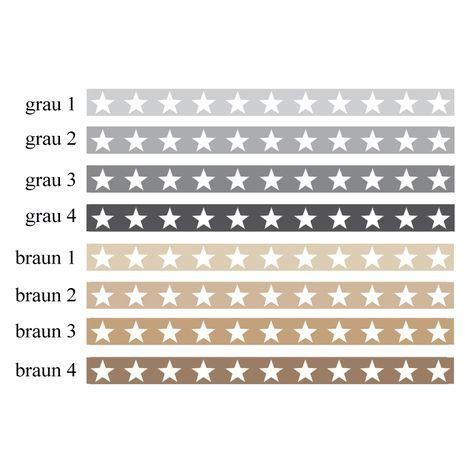 A5 _ Eco Kinderbordüre Große Sterne Grau / Brauntöne