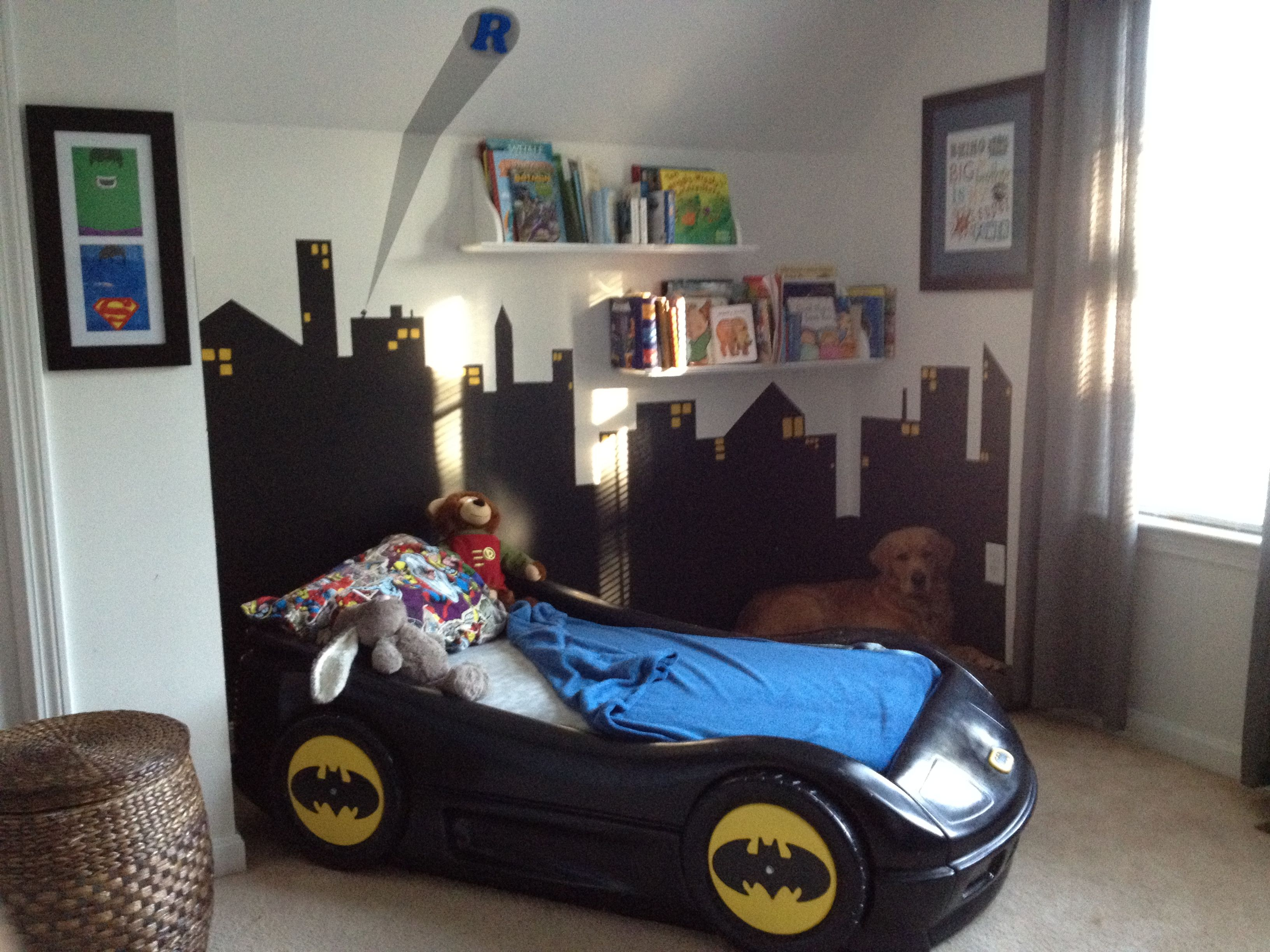 Super Hero Room Love The Painted Car Bed