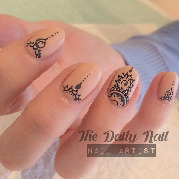Henna Nails By The Daily Nail Using Jessicageleration Stamping