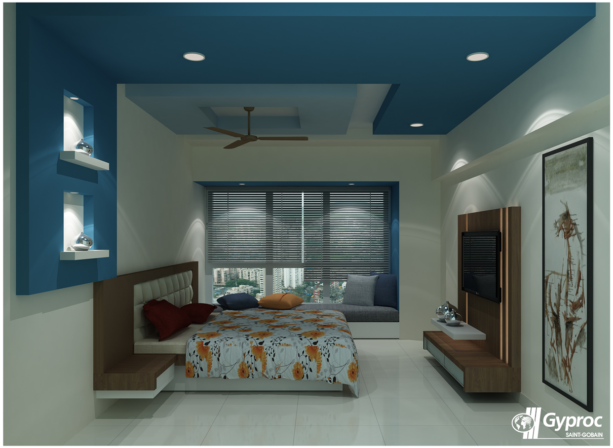Classy bedroom ceiling designs tailor made for your house for Bed styles for small rooms