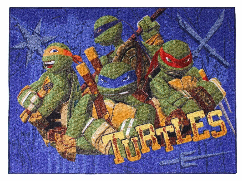 Häkelteppich kinderzimmer ~ Kinderzimmer teppich teenage mutant hero turtles kinderzimmer