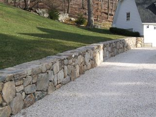 Pin By Jes Scherbring On Homeslices Stone Wall Stone Driveway