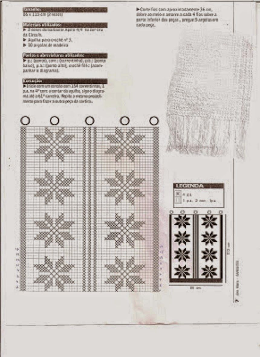 Gr Fico Cortina Jpg 860 1182 Croche Pinterest Filet Crochet