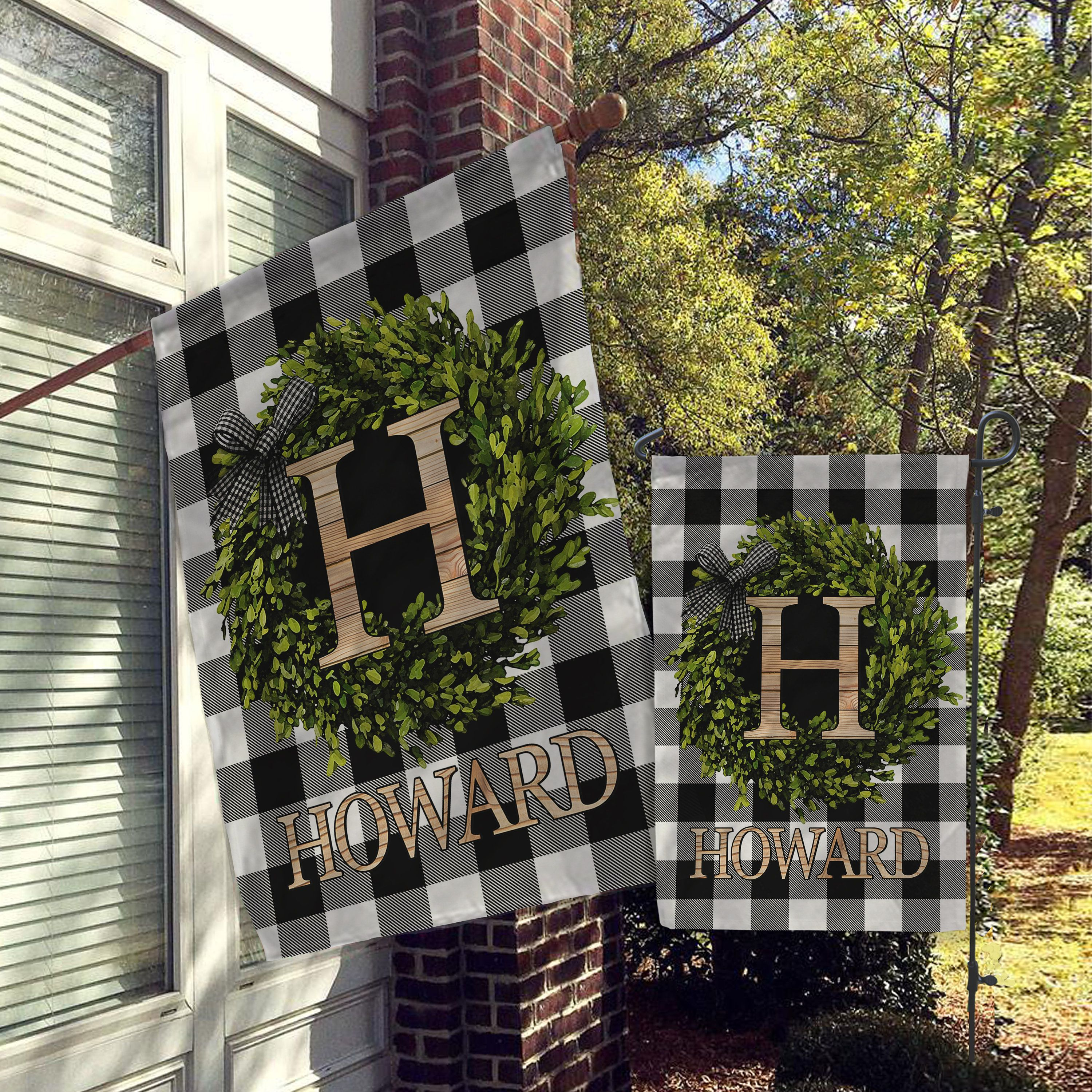 Personalized Flag Welcome Garden Flags Welcome House Flag Etsy In 2020 Farmhouse Garden Personalized Flag House Flags