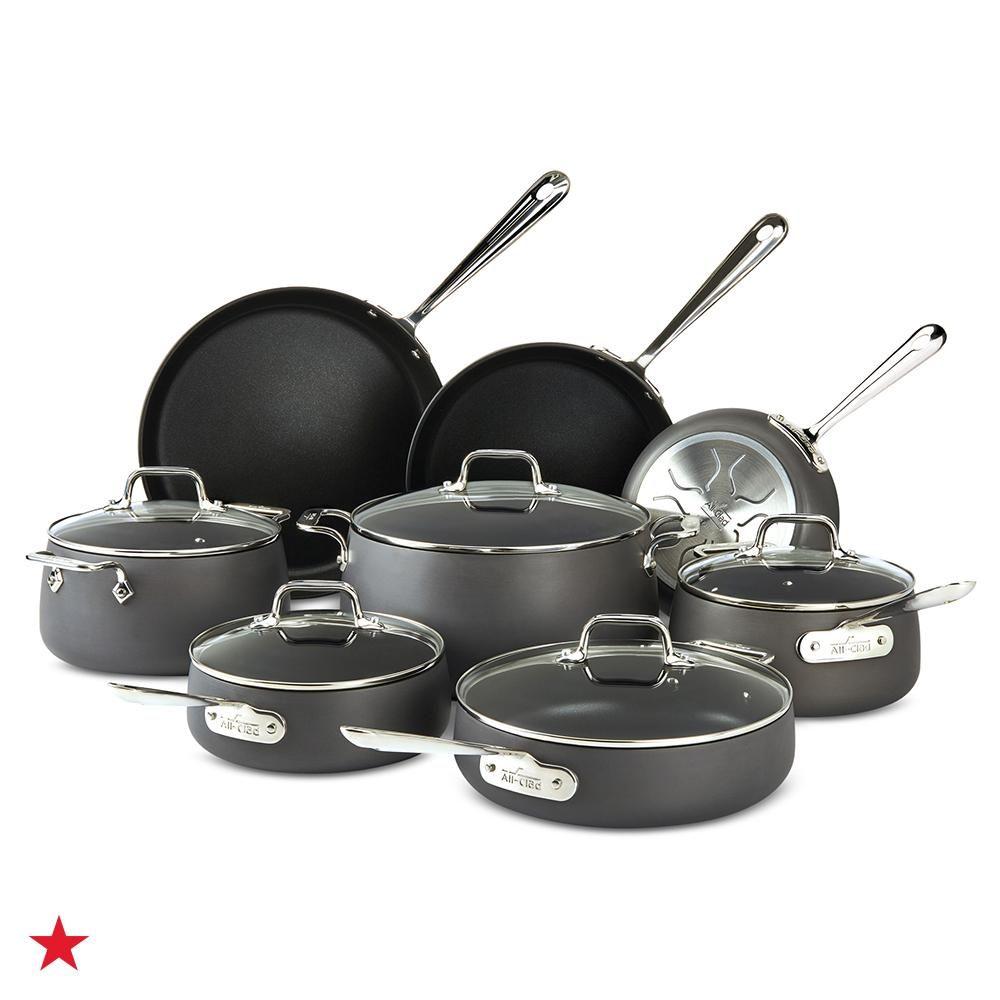 Hard Anodized 13 Pc Cookware Set Cookware Set Pots And Pans Sets