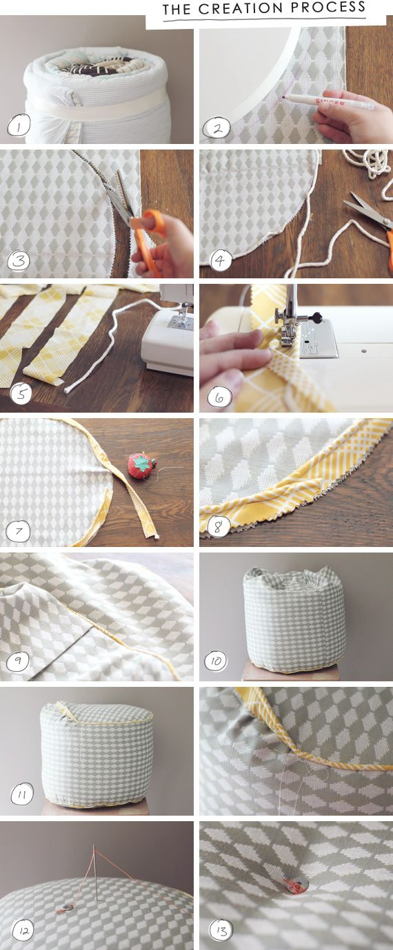 DIY DIY Sewing Pinterest Ottomans Nice And Craft Gorgeous Make Your Own Pouf Ottoman
