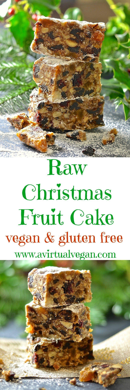 Raw Christmas Fruit Cake Recipe Dessert recipes, Vegan
