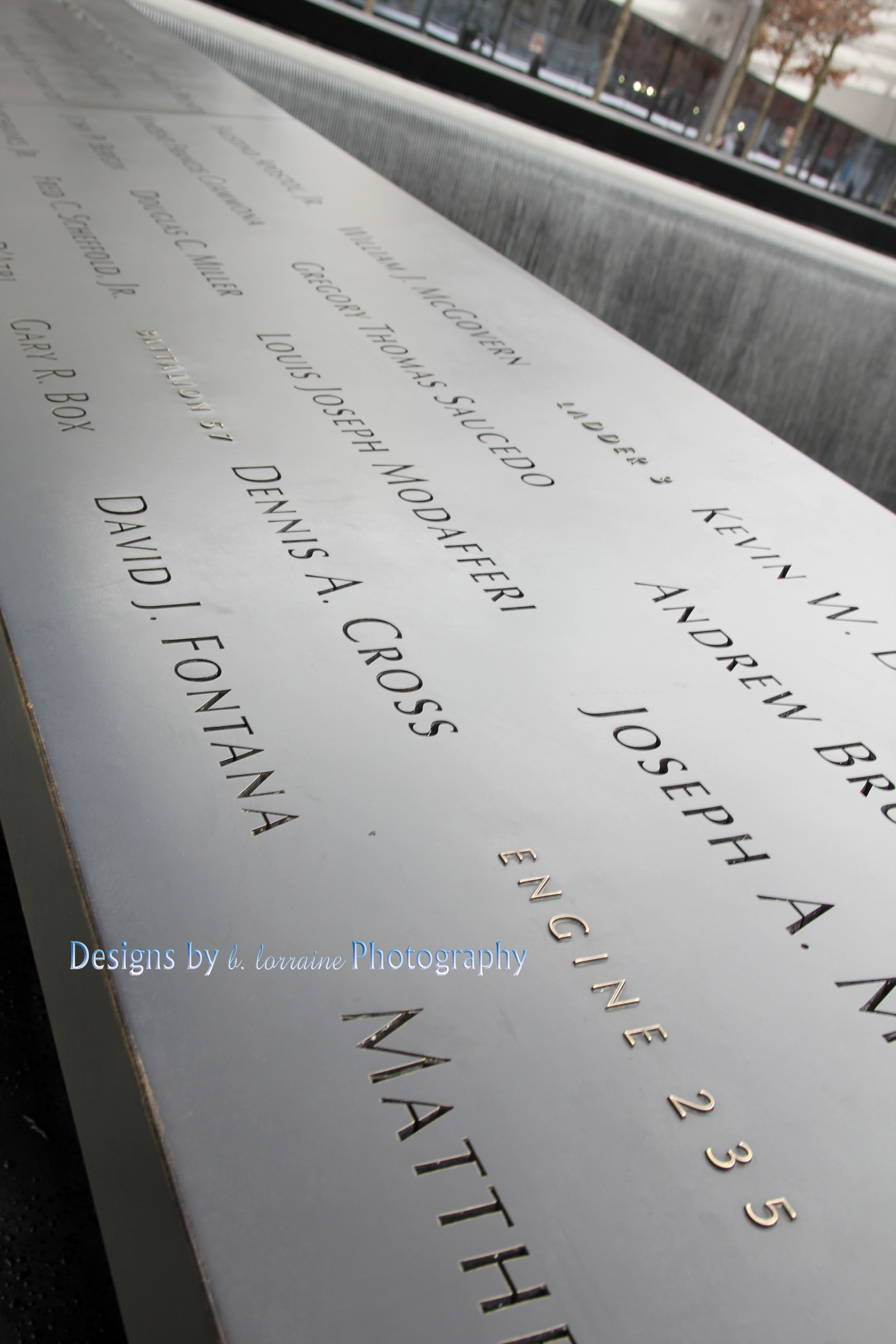 9/11 Memorial. A tribute to those fallen. Words cannot express....