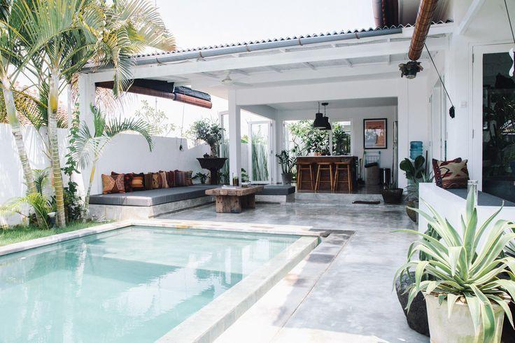 Fella Villas Une Maison En Indonesie A La Deco Boho Motanu Garden Xyz Pool Houses Outdoor Rooms Small Pools