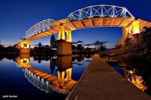 Shelby Street Bridge, Cumberland River, Nashville, Tennessee, United States
