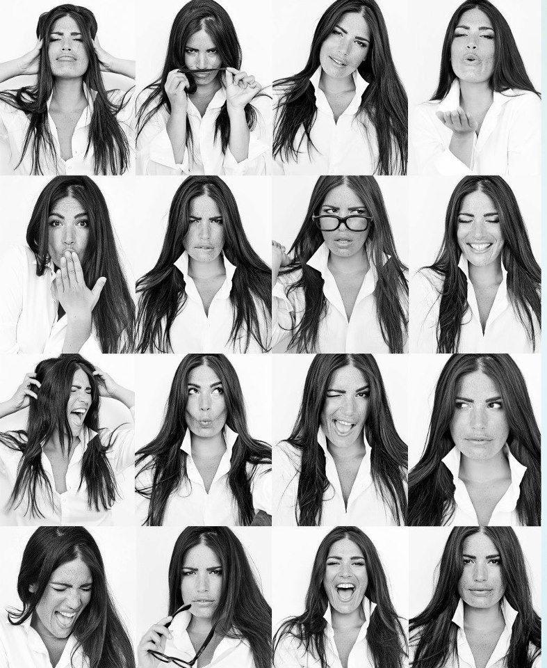 выражение лица при фотосессии