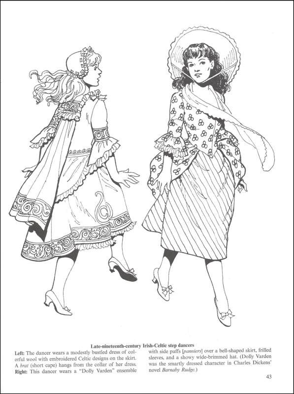 celtic fashions coloring book additional photo inside page - Fashion Coloring Books