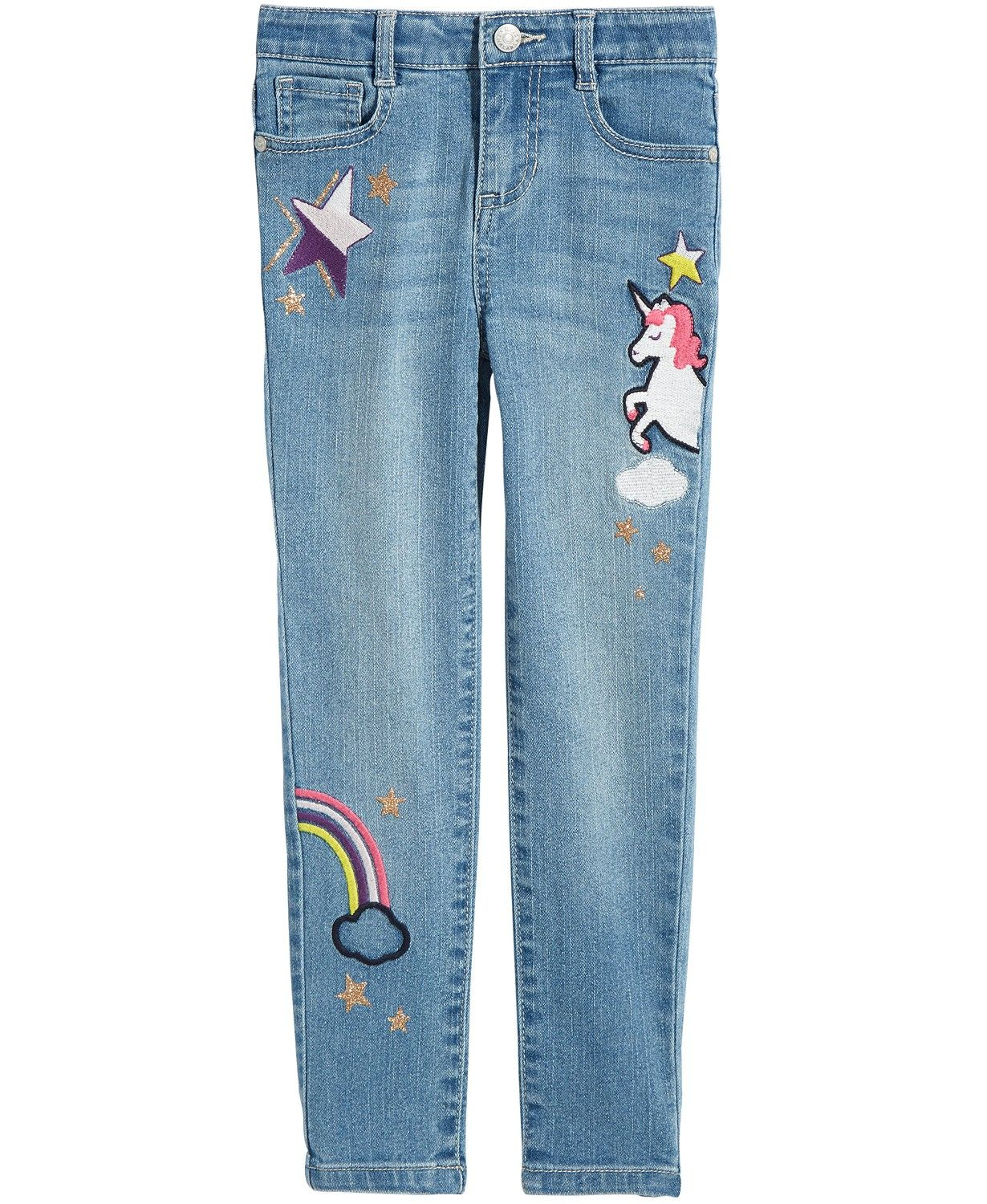 7 Gymboree Girls Clothes Size 5 8 Elastic Waist Faded Blue Kids Jeans Jeggings